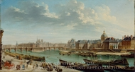 A View of Paris with the Ile de la Cite painting reproduction, Jean-Baptiste Raguenet