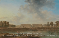A View of Place Louis XV painting reproduction, Alexandre-Jean Noel