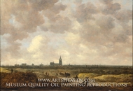 A View of The Hague from the Northwest painting reproduction, Jan Van Goyen