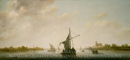 A View of the Maas at Dordrecht painting reproduction, Aelbert Cuyp