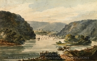 A View of the Potomac at Harpers Ferry painting reproduction, Pavel Petrovich Svinin