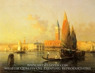 A View of Venice from Isola di St. Georgio by Antoine Bouvard