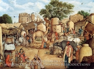 A Village Scene in the Punjab by Gulam Ali Khan
