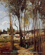 A Village through the Trees by Camille Pissarro
