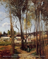 A Village through the Trees painting reproduction, Camille Pissarro