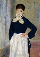 A Waitress at Duval's Restaurant painting reproduction, Pierre-Auguste Renoir