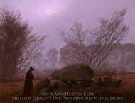 A Walk at Dusk painting reproduction, Caspar David Friedrich