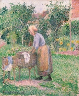 A Washerwoman at Eragny by Camille Pissarro