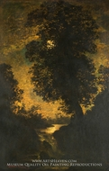A Waterfall, Moonlight by Ralph Albert Blakelock