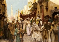 A Wedding Procession painting reproduction, Fabio Fabbi