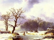 A Winter Landscape by Willem Bodemann