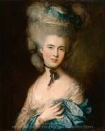 A Woman in Blue painting reproduction, Thomas Gainsborough