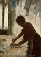 A Woman Ironing painting reproduction, Edgar Degas