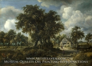 A Woody Landscape by Meindert Hobbema