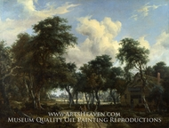 A Woody Landscape with a Cottage by Meindert Hobbema