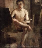 A Young Art Student (Portrait of Thomas Eakins) painting reproduction, Charles Lewis Fussell