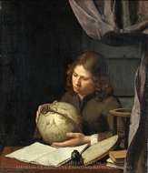 A Young Astronomer painting reproduction, Olivier Van Deuren