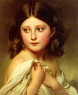 A Young Girl called Princess Charlotte painting reproduction, Franz Xavier Winterhalter