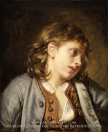 A Young Peasant Boy (Head of a Young Boy) by Jean Baptiste Greuze