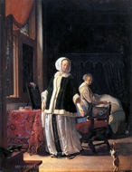 A Young Woman in the Morning painting reproduction, Frans Van Mieris