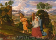 Abraham and Isaac painting reproduction, Johann Heinrich Ferdinand Olivier