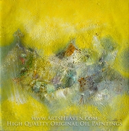 Abstract, Yellow Tone painting reproduction, Various Artist