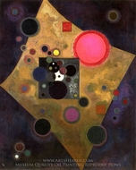 Accent in Pink painting reproduction, Wassily Kandinsky