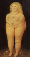 Adam and Eve (Eve) painting reproduction, Fernando Botero