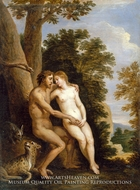 Adam and Eve in Paradise by David Teniers, The Younger