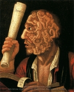Adam and Scroll painting reproduction, Giuseppe Arcimboldo