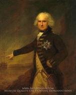 Admiral Alexander Hood, 1st Viscount Bridport painting reproduction, Lemuel Francis Abbott