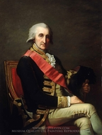 Admiral Lord George Brydges Rodney, First Baron Rodney painting reproduction, Jean Laurent Mosnier