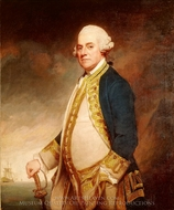 Admiral Sir Charles Hardy painting reproduction, George Romney