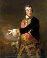 Admiral Sir Charles Saunders painting reproduction, Richard Brompton