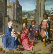 Adoration of the Kings painting reproduction, Gerard David