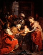Adoration of the Magi painting reproduction, Peter Paul Rubens