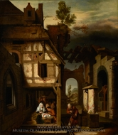 Adoration of the Shepherds painting reproduction, Nicolaes Maes
