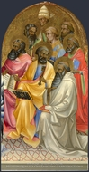 Adoring Saints, Right Main Tier Panel painting reproduction, Lorenzo Monaco
