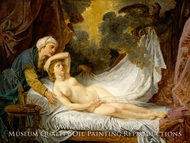 Aegina Visited by Jupiter painting reproduction, Jean Baptiste Greuze