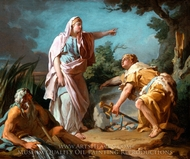 Aethra Showing her Son Theseus the Place Where his Father had Hidden his Arms painting reproduction, Nicolas-Guy Brenet