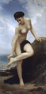 After the Bath (Apres le Bain) painting reproduction, William Adolphe Bouguereau