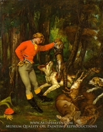 After the Hunt by Gustave Courbet