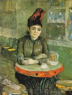 Agostina Sagatori Sitting in the Cafe du Tamborin painting reproduction, Vincent Van Gogh