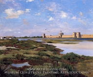 Aigues Mortes by Jean Frederic Bazille