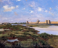 Aigues Mortes painting reproduction, Jean Frederic Bazille