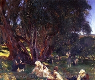 Albanian Olive Pickers painting reproduction, John Singer Sargent