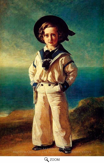 Franz Xavier Winterhalter, Albert Edward, Prince of Wales oil painting reproduction