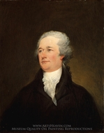 Alexander Hamilton painting reproduction, John Trumbull