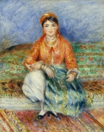 Algerian Girl painting reproduction, Pierre-Auguste Renoir