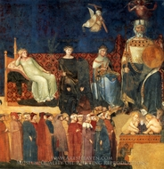 Allegory of Good Government painting reproduction, Ambrogio Lorenzetti